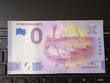 BILLET EURO SOUVENIR 2021-2 ARGELÈS SUR MER