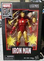 "Hasbro Marvel Legends Series 80 Years Anniversary Iron Man 6"" Action Figure"