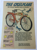 1949 Schwinn bicycle ad page ~ THE CYCELPLANE