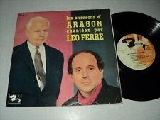 LEO FERRE 33 TOURS 25CMS FRANCE LES CHANSONS D'ARAGON