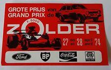 Aufkleber Formula F5000 GP ZOLDER 1974 Ford Escort RS 1800 Sticker Autocollant