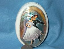 Russian SMALL hand painted SHELL LACQUER SHELL Box BALLET Dancers Silantyeva