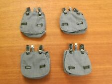 "DRAGON Loose WWII German FJ Bread Bags Lot of 4 for 12"" 1/6th Action Figures"