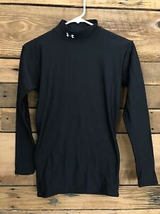 Youth Under Armour cold gear long sleeve mock neck top Sz S black