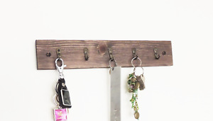 wooden key holder, entryway hanger, hall tidy, rustic hall decor, wood hook