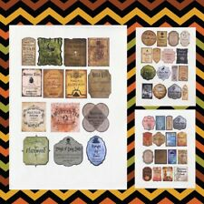 46 Stickers 2� Tall Potion Label Apothecary Adhesive Labels Harry Potter