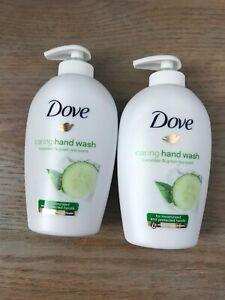 2x Dove Caring Hand Wash - Cucumber & Green Tea Scent - 250ml