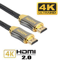 Ethernet Cable HDMI Cable Braid V2.0 HD TV 2160p 4K ARC Gold Plated Connector