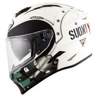 Casco integrale moto Suomy Stellar cyclone helmet casque white matt pinlock