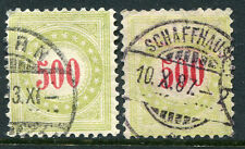SWITZERLAND # J28 - J28a Fine Used Issues - CDS RED NUMERAL POSTAGE DUE - S6274