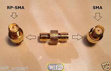SMA Female To RP-SMA Female GRIP connect SMA to RP-SMA RF Connector Adapter USA