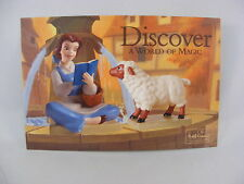 """WDCC Disney Post Card 4"""" x 6"""" Beauty and the Beast, Belle's Curious Companion"""