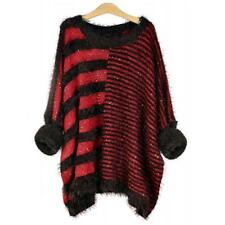 Sexy Jumper Sweater Tops Ladies Womens Striped Oversize Knitted size 10 12