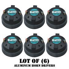 """Lot of (6) Pyle PDS122 1.5"""" Aluminum Horn Drivers 8 Ohm 1-3/8"""" x 18 TPI DJ Pro"""