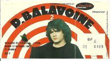 RARE / TICKET BILLET DE CONCERT - DANIEL BALAVOINE : LIVE A LYON ( FRANCE ) 1982