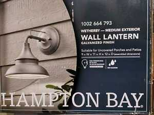 Galvanized Outdoor Barn Light Wall Mount Sconce by Hampton Bay