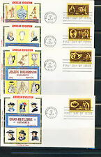 1972 FDC Set of 4 - Scott# 1456-59 - Colonial Craftsman - Colorano RV$ 75.00