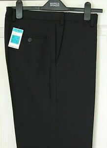 New Marks and Spencer Gents Trousers Wool Rich Blend Colour Navy Size W34 L33