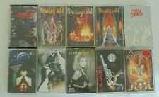 Cassettes lot of 10 Anthrax Running Wild LA Guns Hurricane Metal Church & More