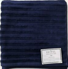 "NEW HOTEL COLLECTION STRIPES NAVY BLUE 100% COTTON BATH TOWEL 30"" X 52"""