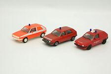 Herpa 1/87 HO - Lot de 3 VW Golf 2  Pompiers