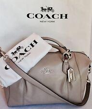 COACH 58410 Colette Leather Satchel Shoulder Bag Purse SV/Birch NWT