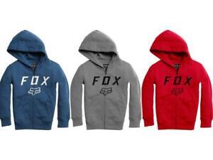 Fox Racing Youth Legacy Moth Zip Fleece Hoody Hooded Sweatshirt Boy's Kid's