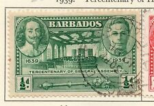 Barbados 1939 Early Issue Fine Used 1/2d. 025788