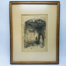 """James Abbott McNeill Whistler ETCHING """"The Beggars"""" Venice Italy"""