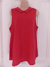 "Next ""my essentials"" size 18 red sleeveless tunic top with collar BNWT"