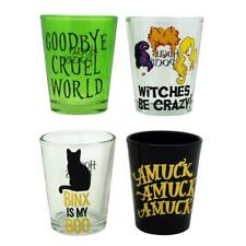 Disney Hocus Pocus Goodbye Cruel World 1.5 oz Shot Glass Set of 4