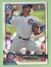 2018 Bowman Baseball Adbert Alzolay Refractor Chicago Cubs 152/499