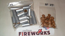 25 Silver 5/8 x 1 1/2 x 3/32 inch Paper Fireworks Tubes + 50 Free Plugs  Free SH