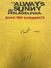 Always Sunny In Philadelphia Signed Tshirt Size medium Mac, Dennis, And Dee