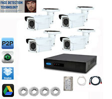 8CH FACE DETECTION 5MP NVR 4 x 4MP 2.8-12mm Camera IP Security System 2TB HDD
