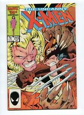 1987 X-MEN #213 SABERTOOTH APPEARANCE  NM+  D12