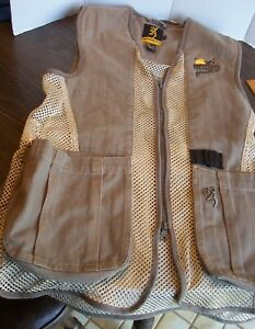 Browning Mesh Pheasants Forever Zip Up Shooting Vest Men's S Never Used See Pics