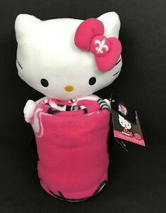 Hello Kitty Hugger New Orleans Saints NFL & Throw Blanket Set New