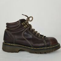 Dr Martens Brown Leather Lace Up Ankle Boot England UK 8 US Mens 9 Womens 10