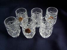 6 Schnapsgläser Schnaps Gläser Katharinenhütte 24 % Bleikristall (1954)