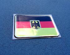 0106) 3D Embleme Sticker 57/40mm Silikon Aufkleber Fahne Flagge Deutschland