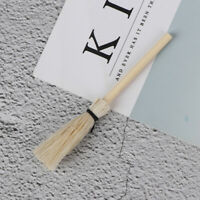 1:12 Dollhouse miniature white wooden broom besom doll house ornament  mi