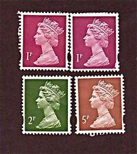 GREAT BRITAIN, 4 1971-2009 Queen Elizabeth II Stamps, MINT, See Descr   FN80