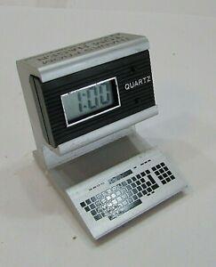 Vintage 1980's Advertising Old Desktop PC Quartz Digital Clock Tom Hagen FREE SH