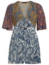 NWT BCBGMAXAZRIA Ivy Floral Print Tie Front Romper S