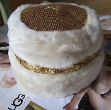 UGG Hat In Out Sequins Shearling NEW