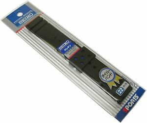 Japan SEIKO Urethane Rubber Watch Strap Band 22mm -Authentic-