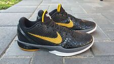 Nike Zoom Kobe 6 Del Sol Black/White/Yellow size 11US