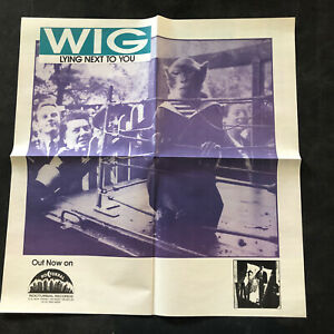 """WIG 1990s Promo Poster DETROIT ROCK Lying Next To You 20""""x20"""""""