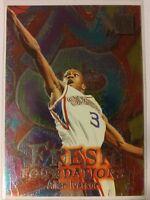 Allen Iverson Rookie 1996-97 Fleer Metal Fresh Foundations, RC, HOF, 76ers